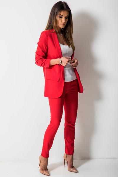 Bristol Elegancka Marynarka Czerwona