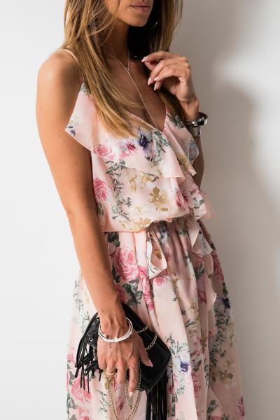 Scarlett Sukienka Maxi Kwiaty Róż