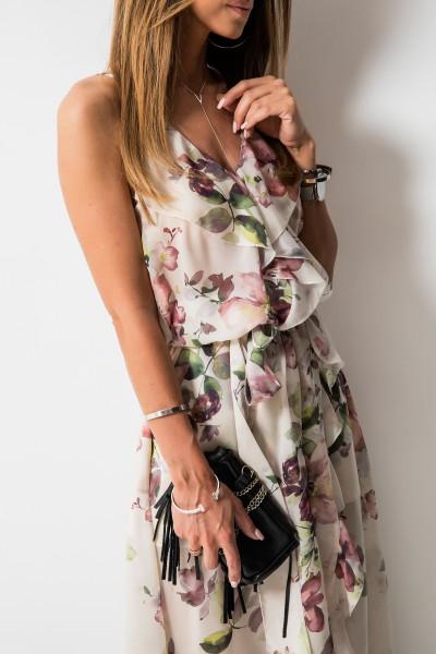 Scarlett Sukienka Maxi Pink Flowers