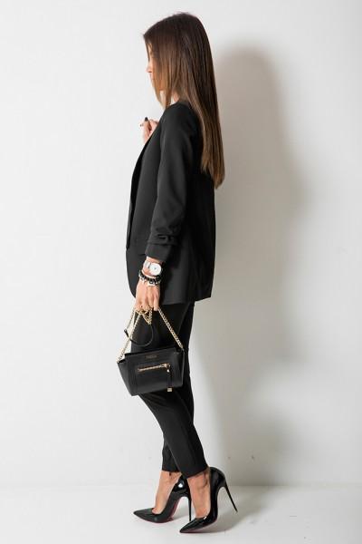 Bristol Eleganckie Spodnie Czarne