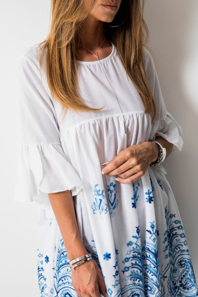 Georgina Sukienka White/Blue