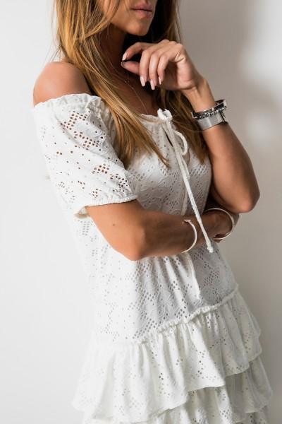 Fancy Sukienka Hiszpanka Biel