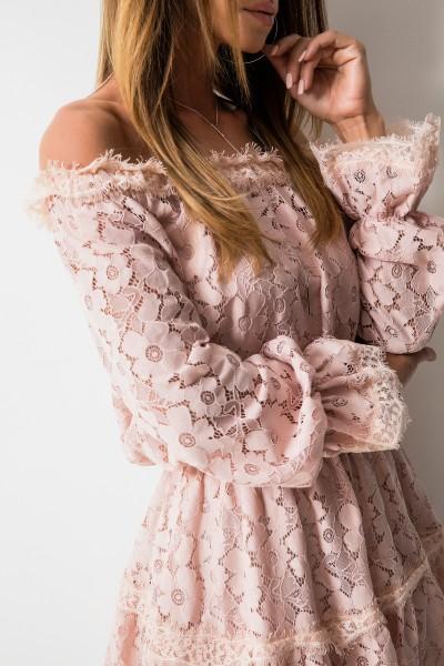 Clara Sukienka Koronka Róż