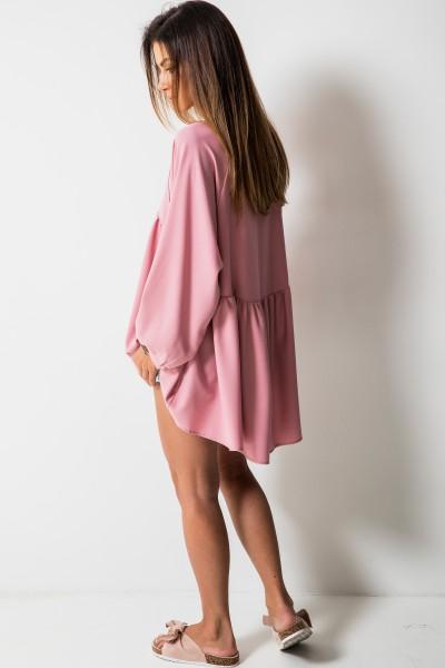 Ruby Asymetryczna Bluzka Róż
