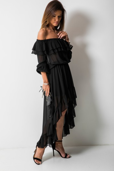Milagros Sukienka Maxi Czarna