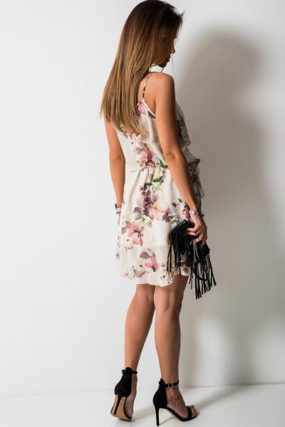 Scarlett Sukienka Mini Pink Flowers