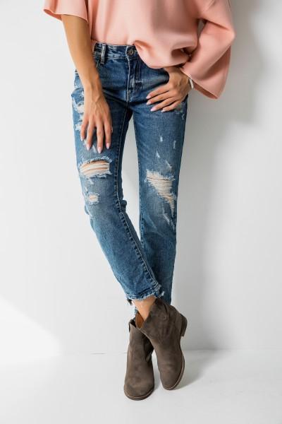 3D-741 Spodnie Boyfriend Jeans