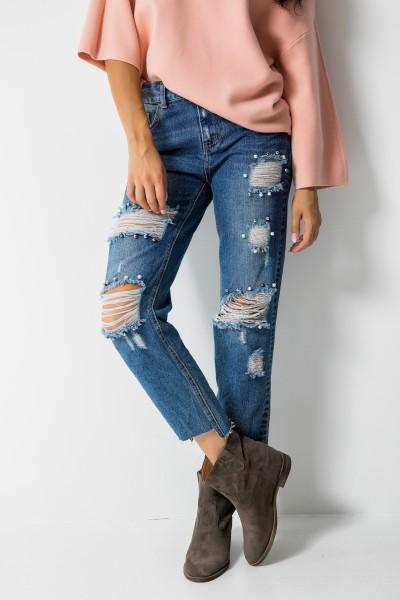 3D-746 Spodnie Boyfriend Jeans
