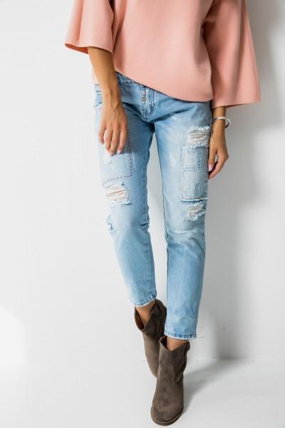DY030 Spodnie Boyfriend Jeans
