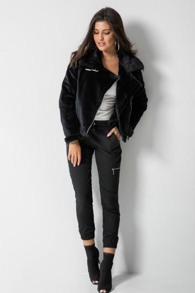 Eleganckie Spodnie Gumka Czarne