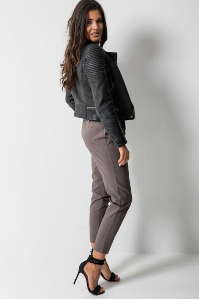 Eleganckie Spodnie Wstążka Brąz