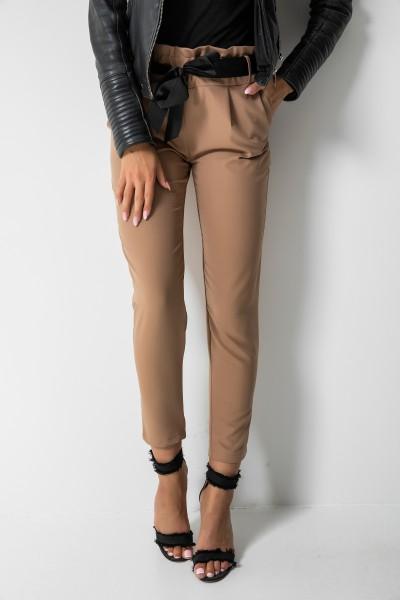 Eleganckie Spodnie Wstążka Camel