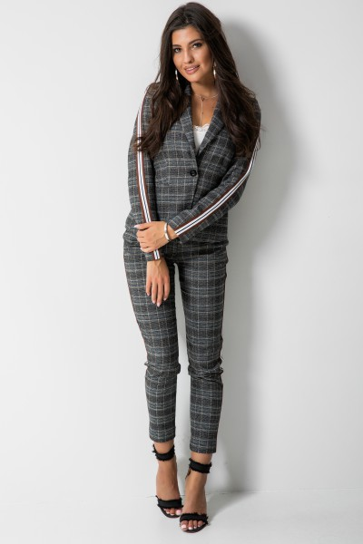 Eleganckie Spodnie Krata