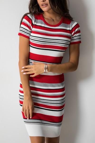 Kimberly Sukienka Midi Paski Red