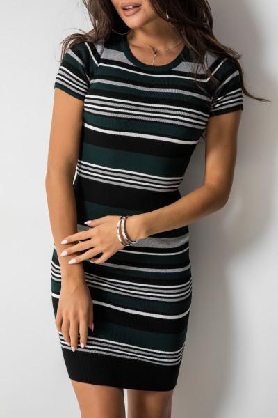 Kimberly Sukienka Midi Paski Green
