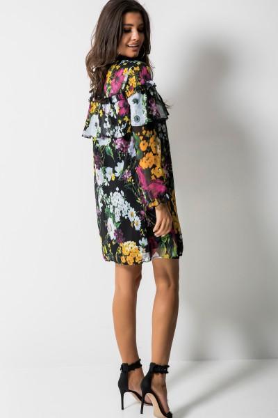 Merida Sukienka Kwiaty Czarna