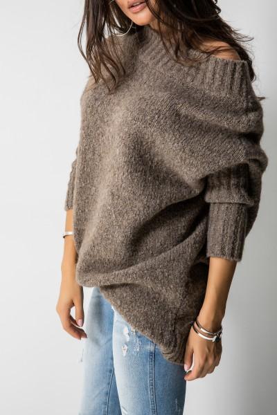 Sweter Logo Mokka