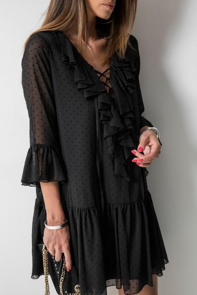 Adora Sukienka Grochy Czarna