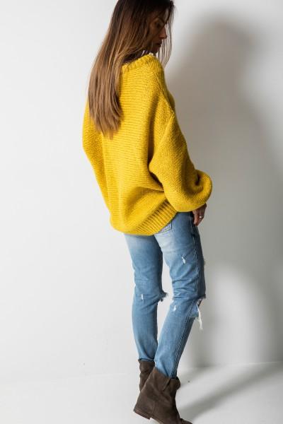 Colette Sweter Oversize Musztarda