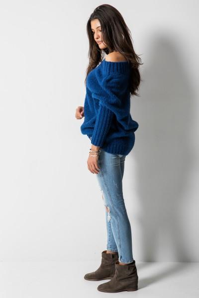Sweter Logo Niebieski