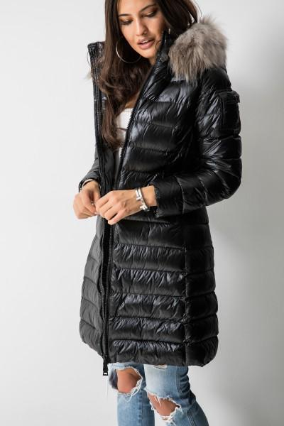 18-68 Pikowany Płaszcz Black