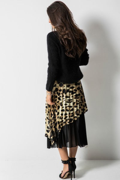 Asymetryczna Spódnica Panther Print