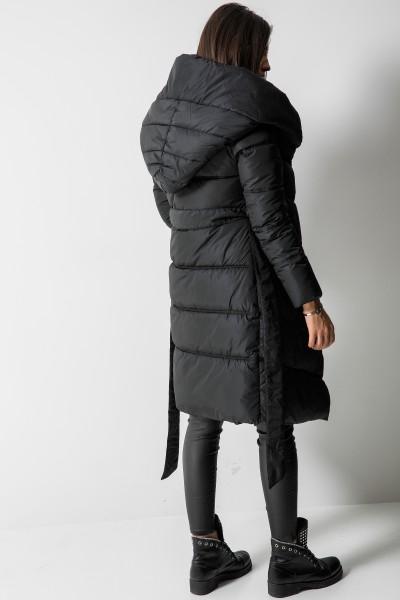 602 Płaszcz Puchowy Czarny