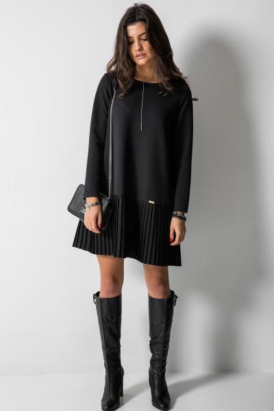 Selina Trapezowa Sukienka Czarna