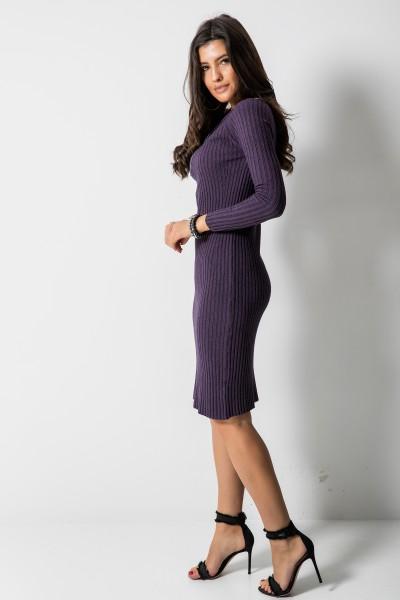 2611 Dopasowana Sukienka Fiolet