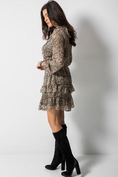 Hazel Sukienka Wężowy Print