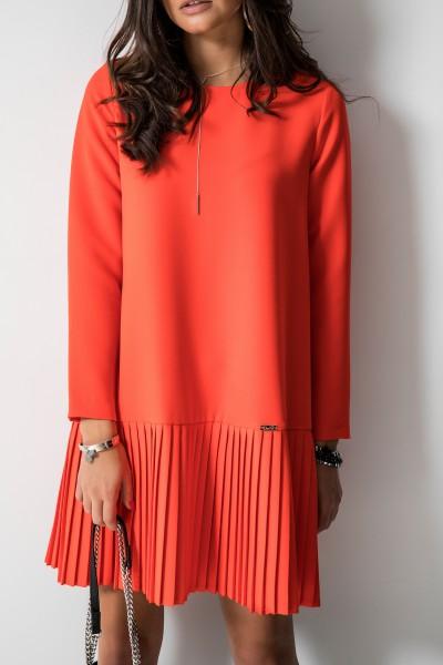 Selina Trapezowa Sukienka Orange