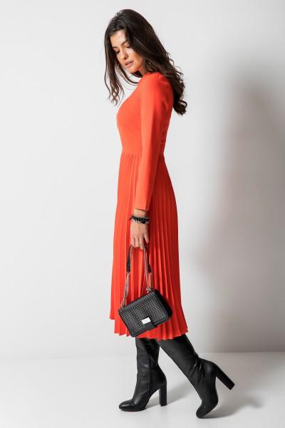 d85d785818 Madeleine Sukienka Plisowana Coral · Madeleine Sukienka Plisowana Orange ...