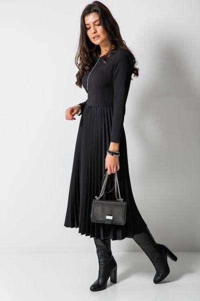 Madeleine Sukienka Plisowana Czarna