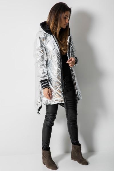 02 Asymetryczny Płaszcz Romby Silver