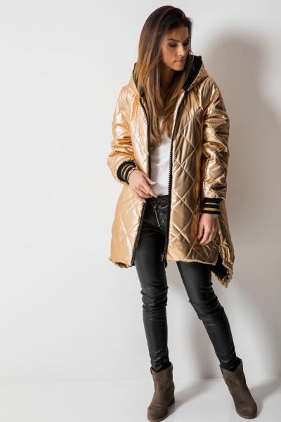 02 Asymetryczny Płaszcz Romby Gold