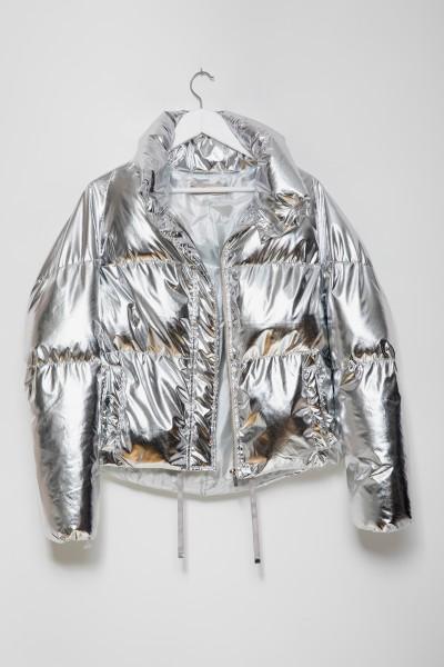 8121 Kurtka Puchowa Silver