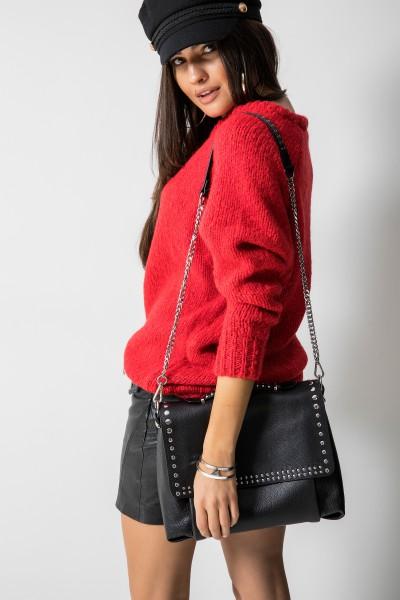 Sydney Sweter Oversize Czerwony