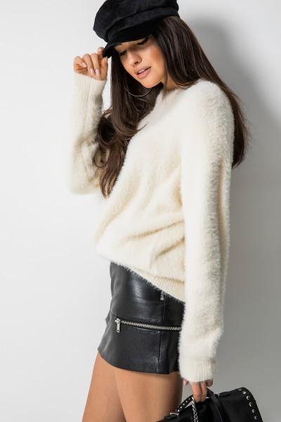 M900 Sweter z Włosem Ecru
