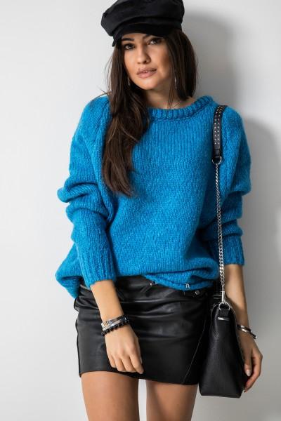Sydney Sweter Oversize Niebieski