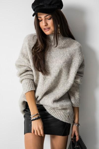 Dallas Oversizowy Sweter Ecru
