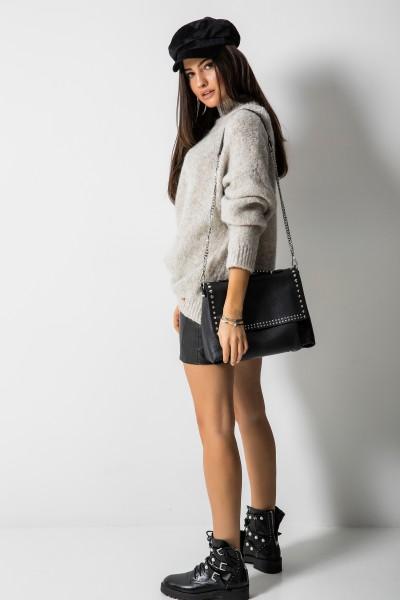 Dallas Oversizowy Sweter Beż