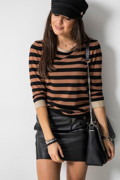 Sweter Paski Brown/Black