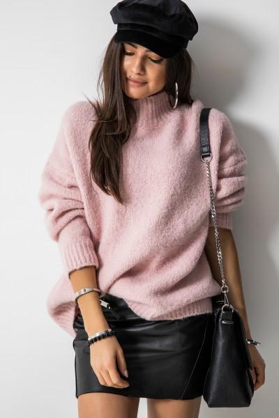 Dallas Oversizowy Sweter Róż