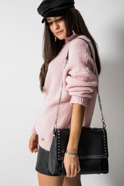 Dallas Oversizowy Sweter Pudrowy Róż
