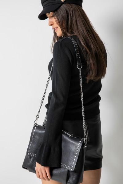 17122 Sweter Włoski Black