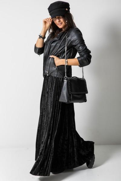 Plisowana Spódnica Włoska Black
