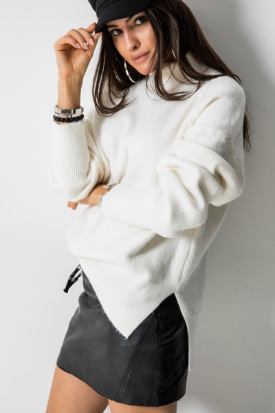 Danielle Asymetryczny Sweter Ecru