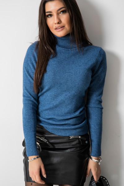 9966 Sweter Golf Niebieski