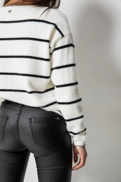9114 Woskowane Spodnie Czarne
