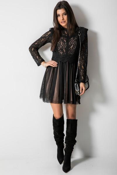 Hillary Sukienka Black/Beige